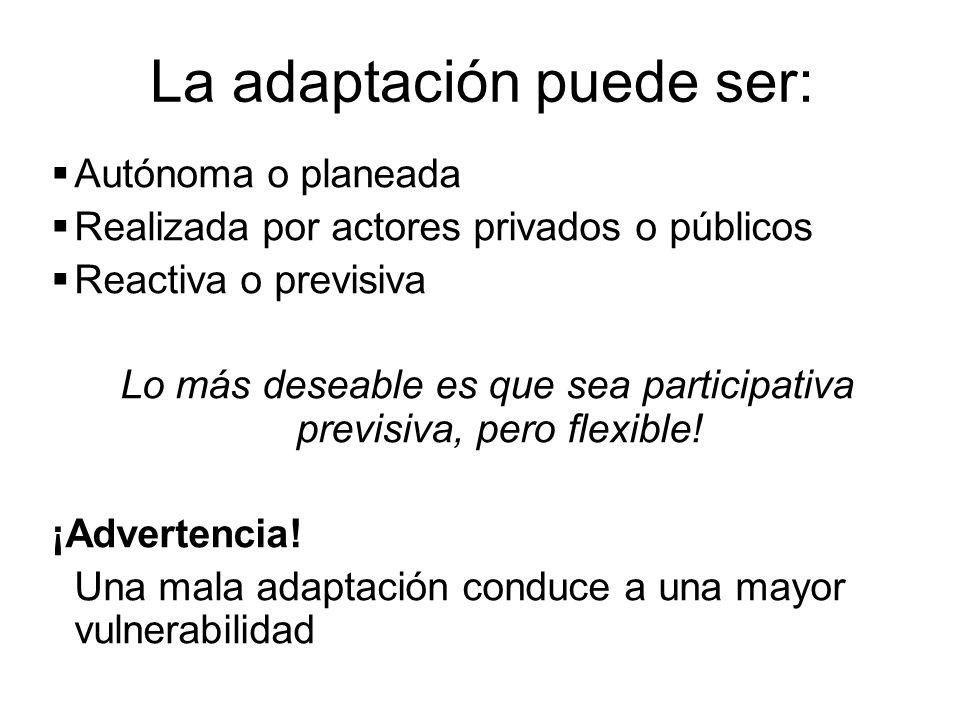 La adaptación puede ser: