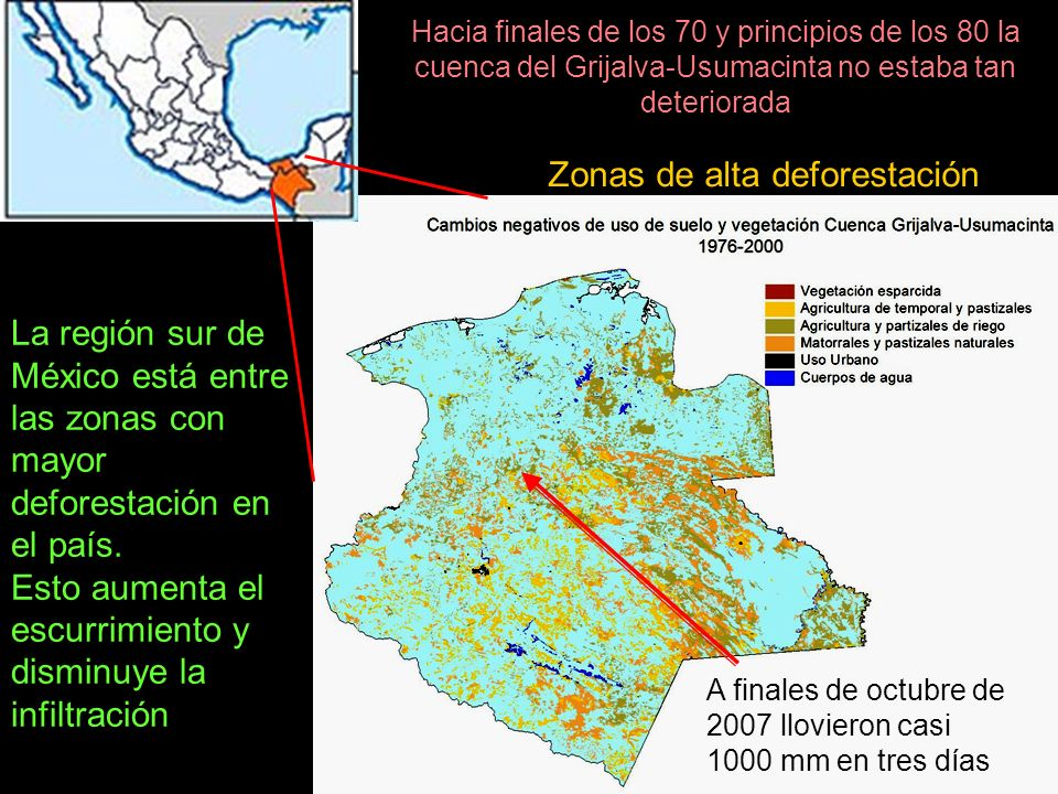 Zonas de alta deforestación