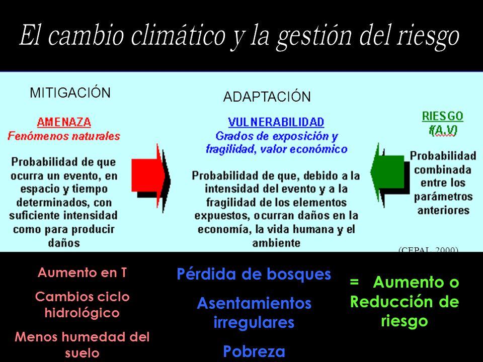 El cambio climático y la gestión del riesgo