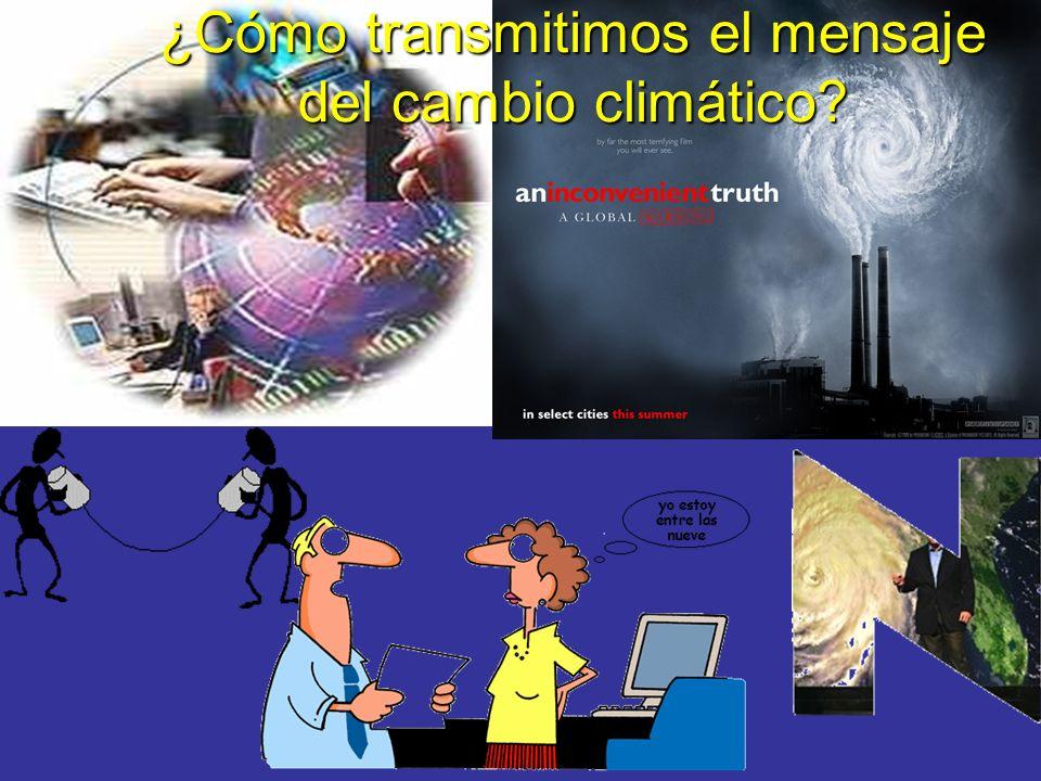 ¿Cómo transmitimos el mensaje del cambio climático