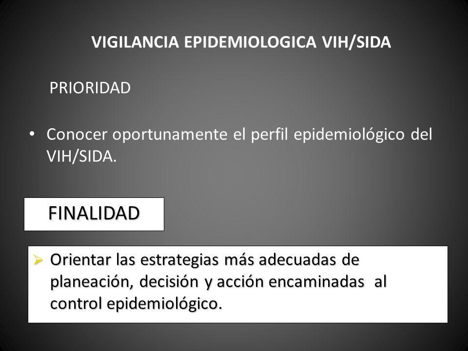 VIGILANCIA EPIDEMIOLOGICA VIH/SIDA