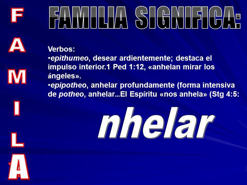 FAMILIA SIGNIFICA: FAMILY nhelar A Verbos: