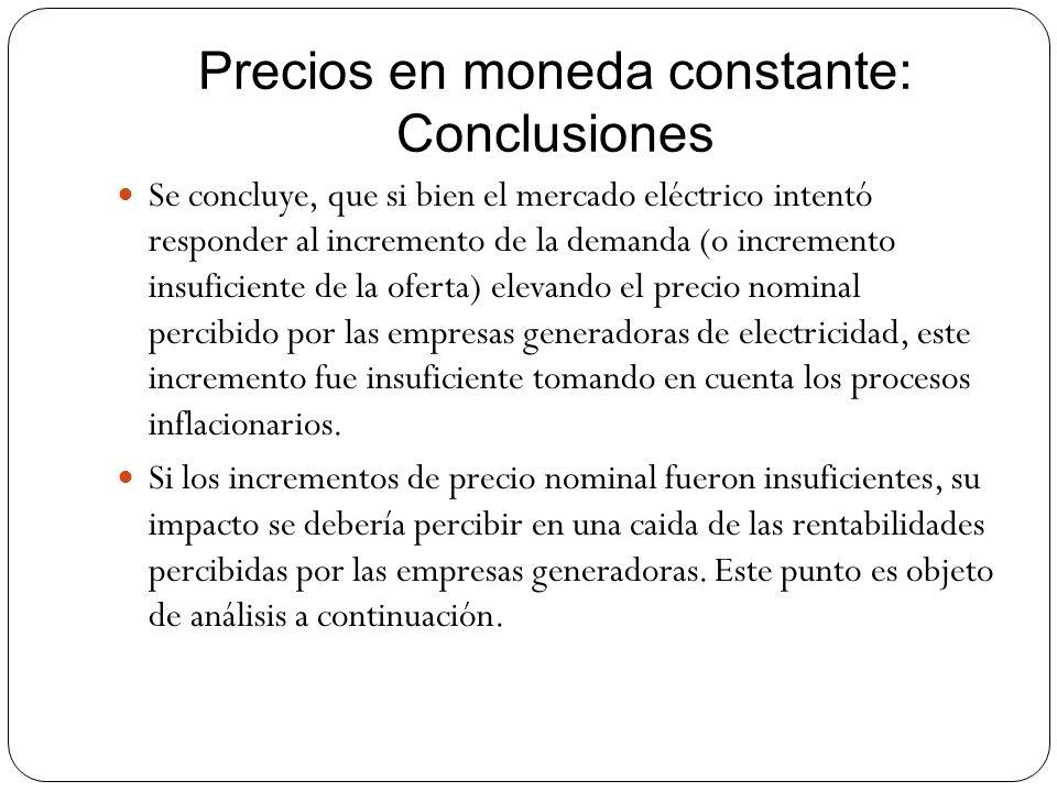 Precios en moneda constante: Conclusiones