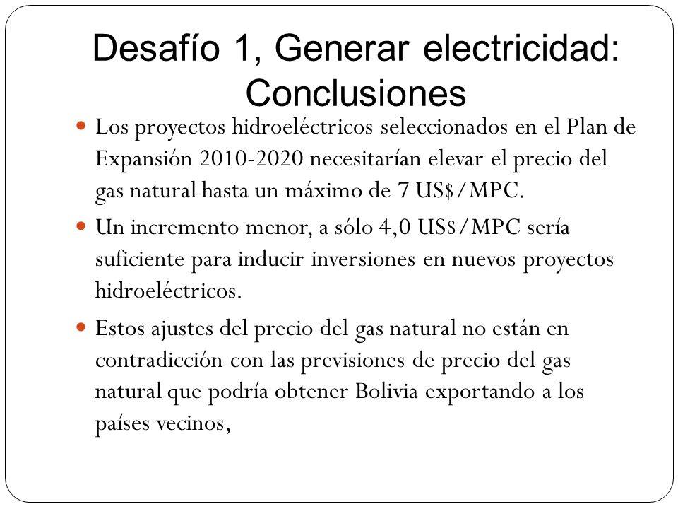 Desafío 1, Generar electricidad: Conclusiones