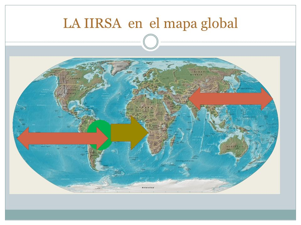 LA IIRSA en el mapa global