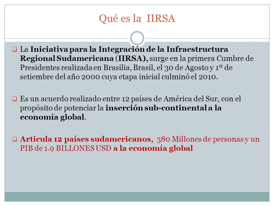 Qué es la IIRSA