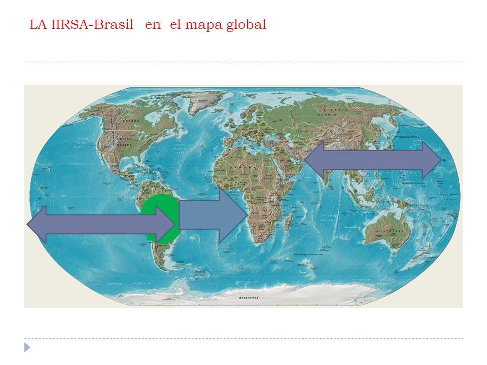 LA IIRSA-Brasil en el mapa global
