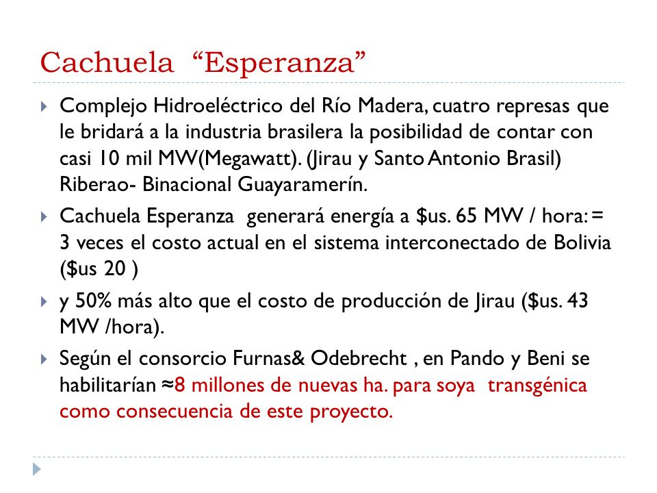 Cachuela Esperanza
