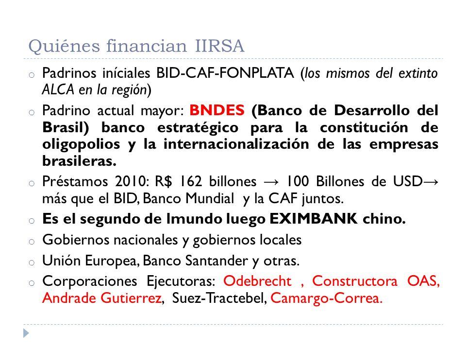 Quiénes financian IIRSA