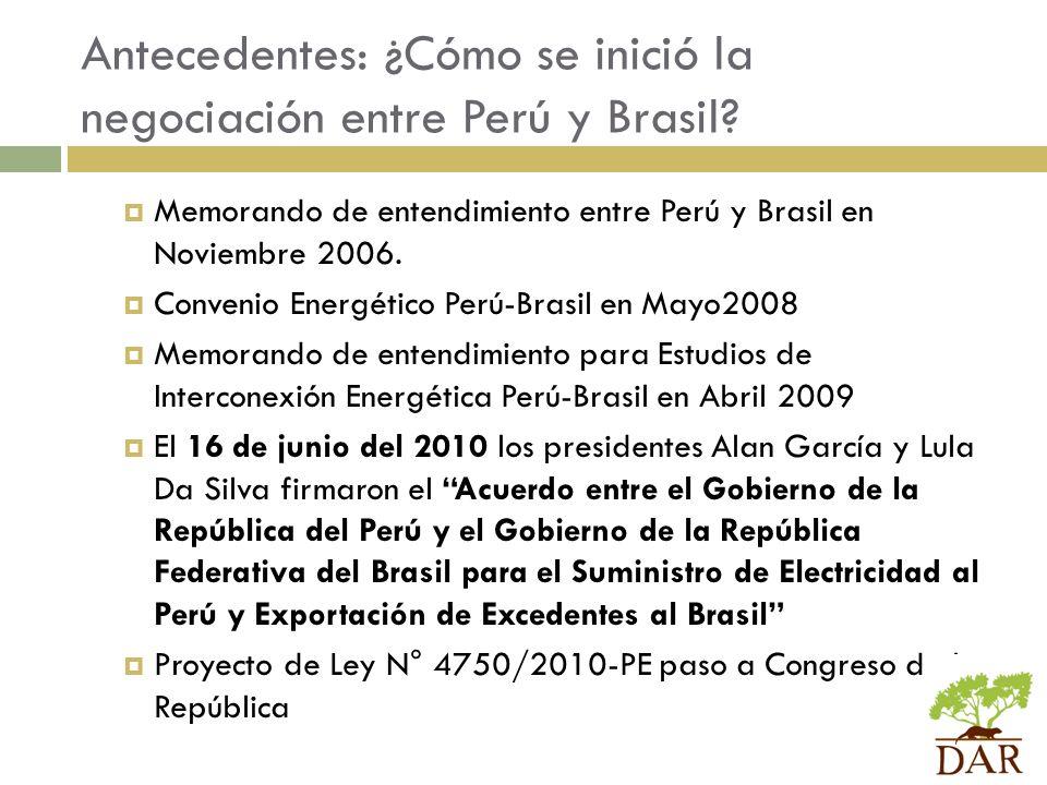 Antecedentes: ¿Cómo se inició la negociación entre Perú y Brasil