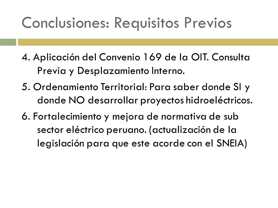 Conclusiones: Requisitos Previos