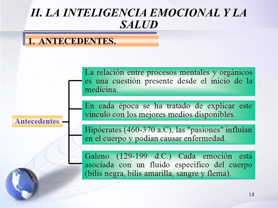 II. LA INTELIGENCIA EMOCIONAL Y LA SALUD