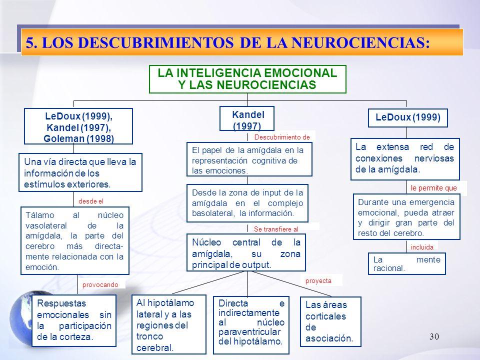 5. LOS DESCUBRIMIENTOS DE LA NEUROCIENCIAS: