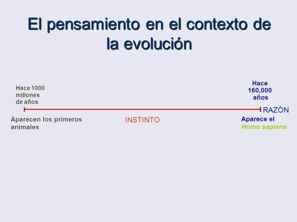 El pensamiento en el contexto de la evolución