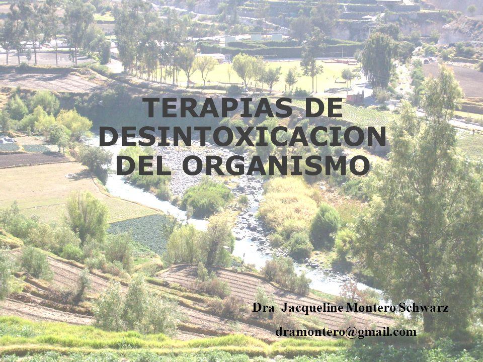 TERAPIAS DE DESINTOXICACION DEL ORGANISMO