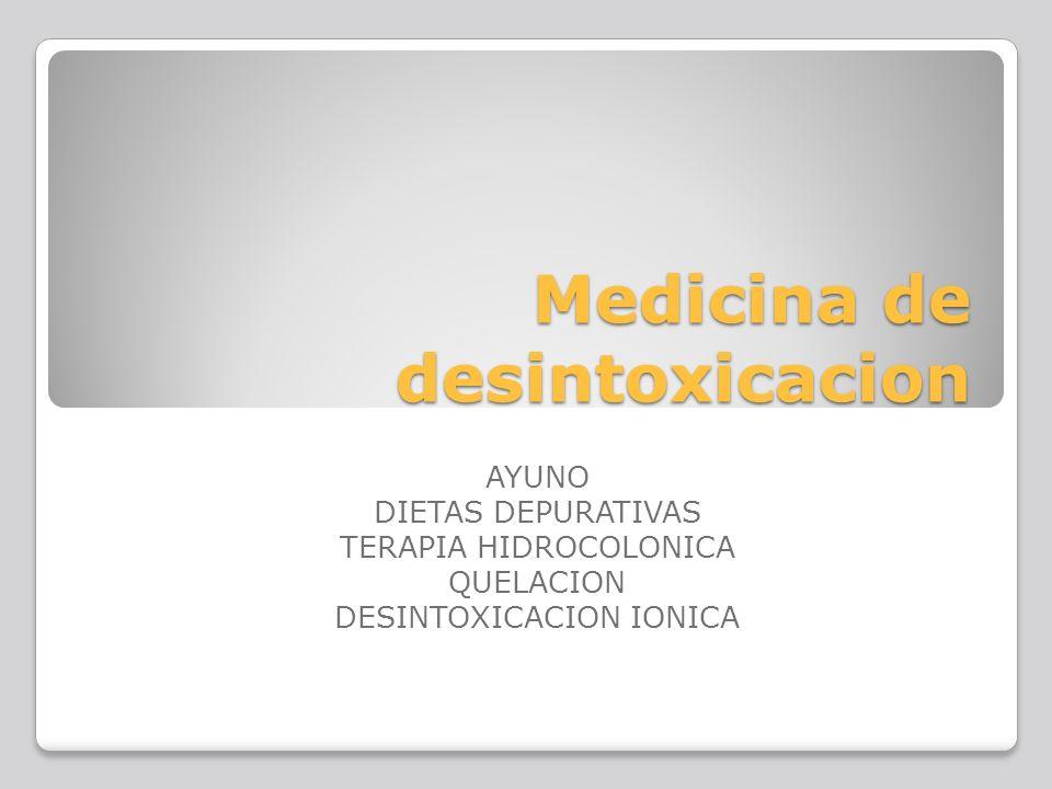 Medicina de desintoxicacion