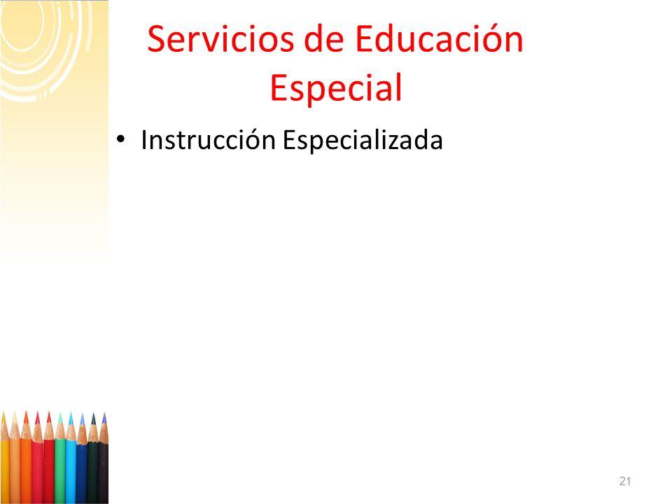 Servicios de Educación Especial
