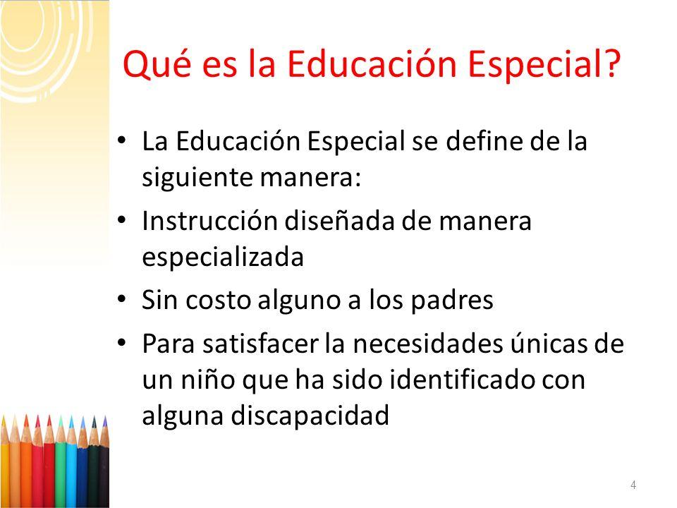 ¿ Qué es la Educación Especial