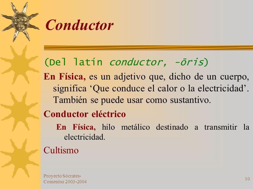 Conductor (Del latín conductor, -ōris)