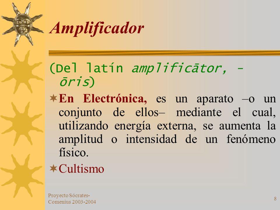 Amplificador (Del latín amplificātor, -ōris)