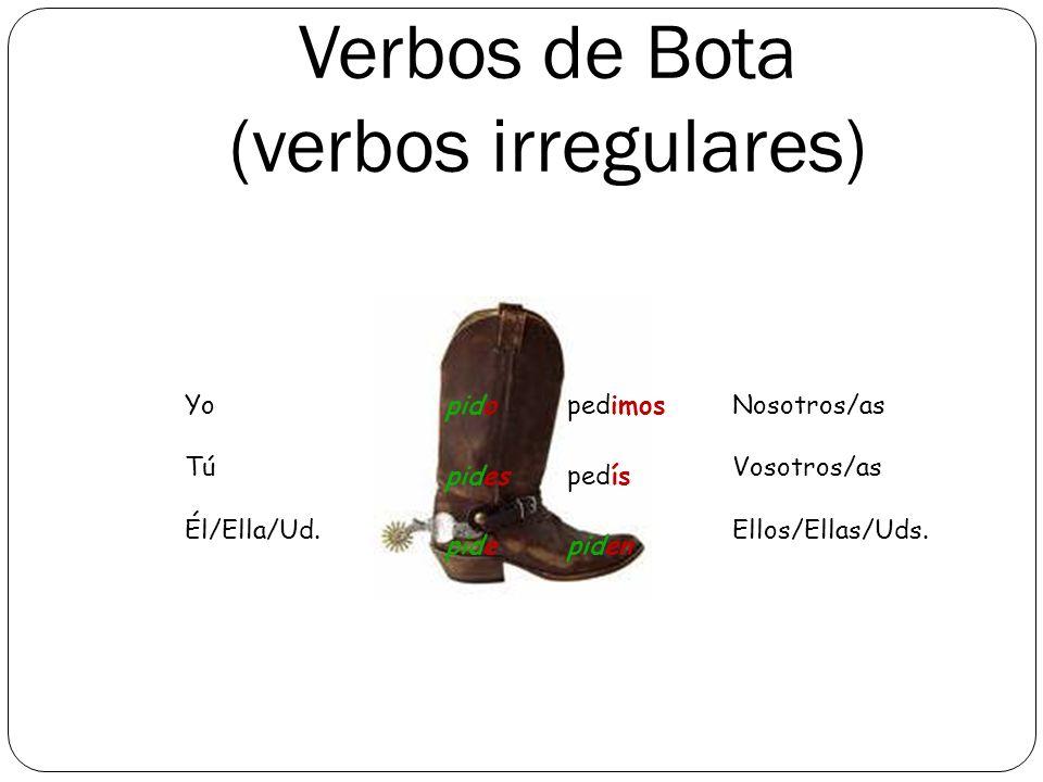 Verbos de Bota (verbos irregulares)