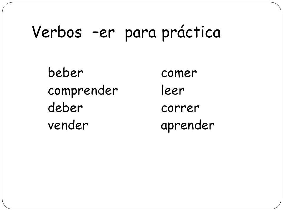 Verbos –er para práctica