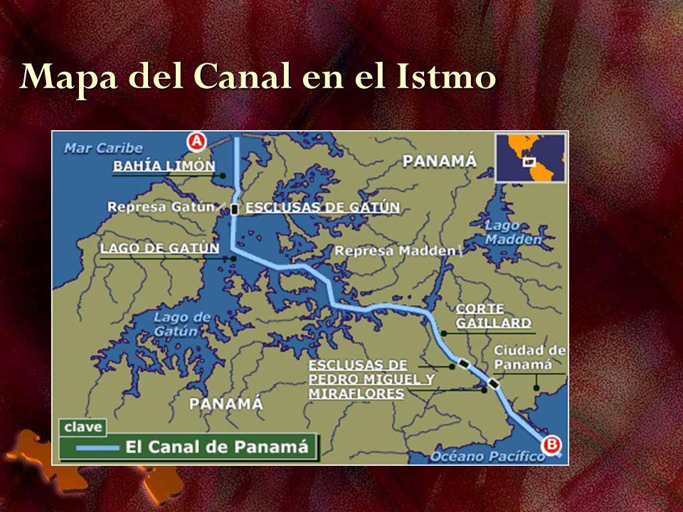 Mapa del Canal en el Istmo