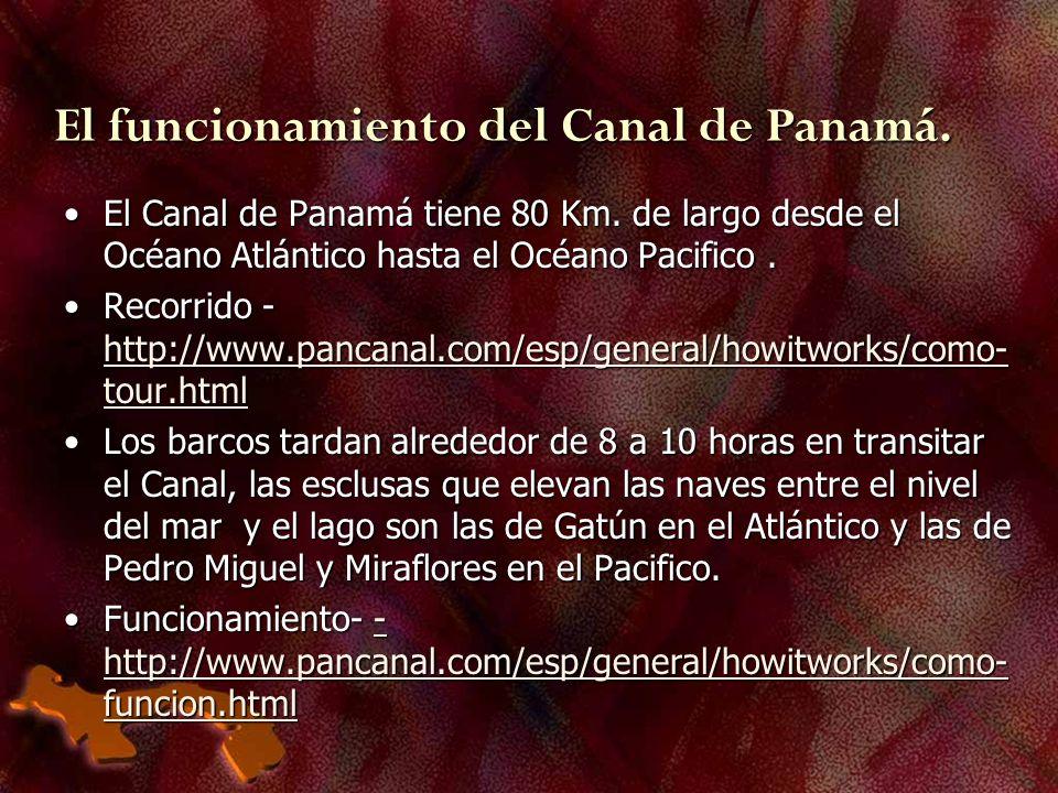 El funcionamiento del Canal de Panamá.