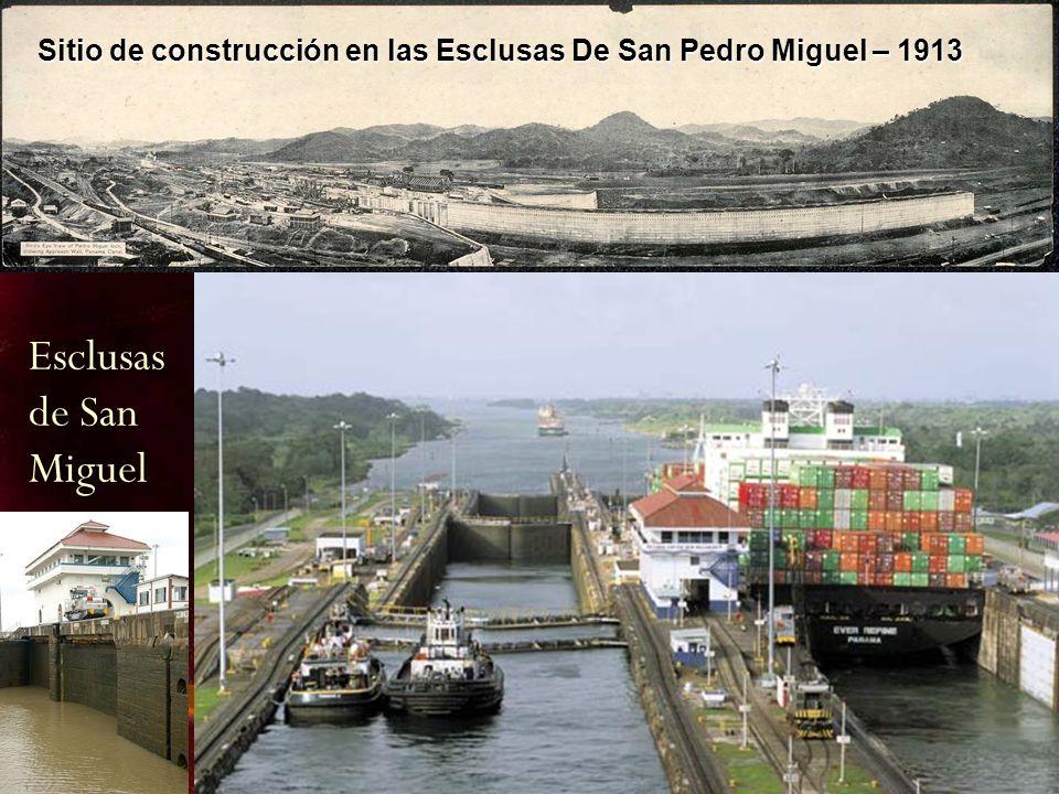 Sitio de construcción en las Esclusas De San Pedro Miguel – 1913