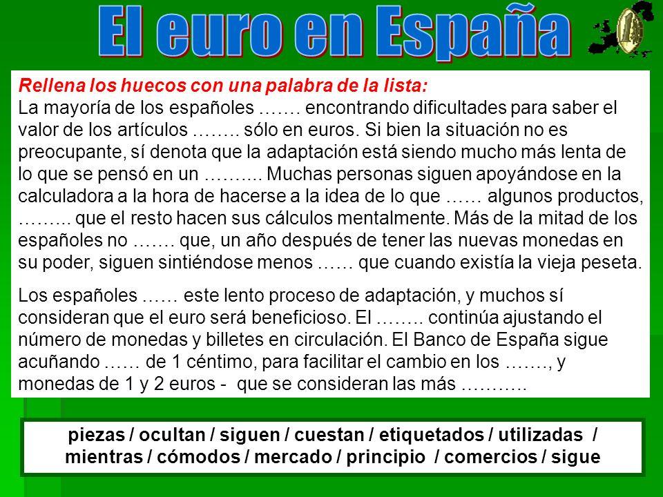 El euro en España