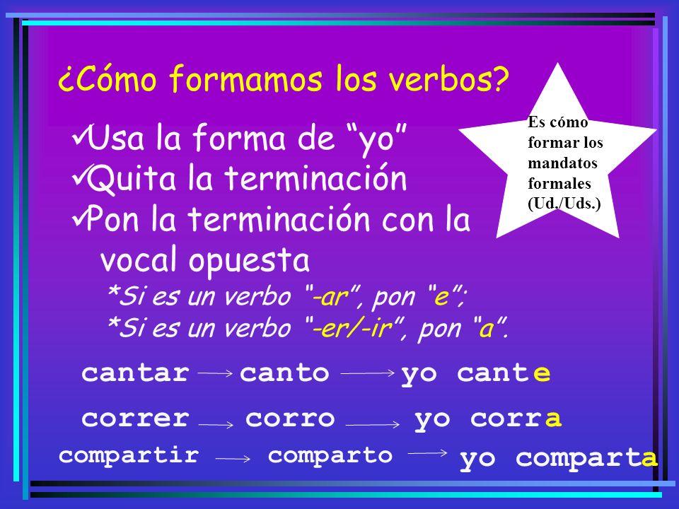 ¿Cómo formamos los verbos