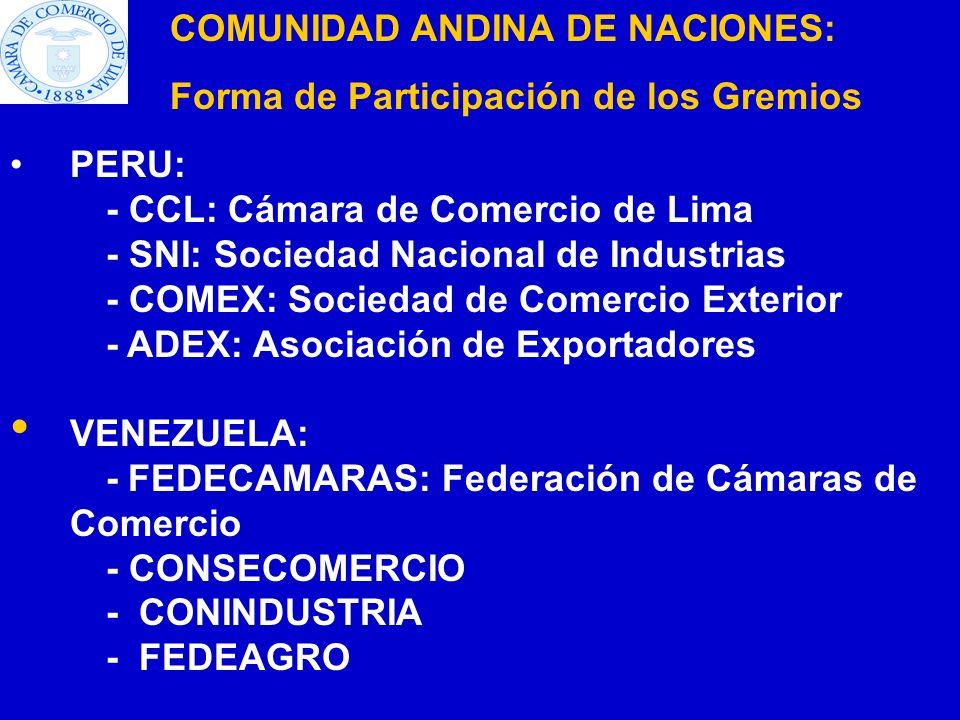 COMUNIDAD ANDINA DE NACIONES: