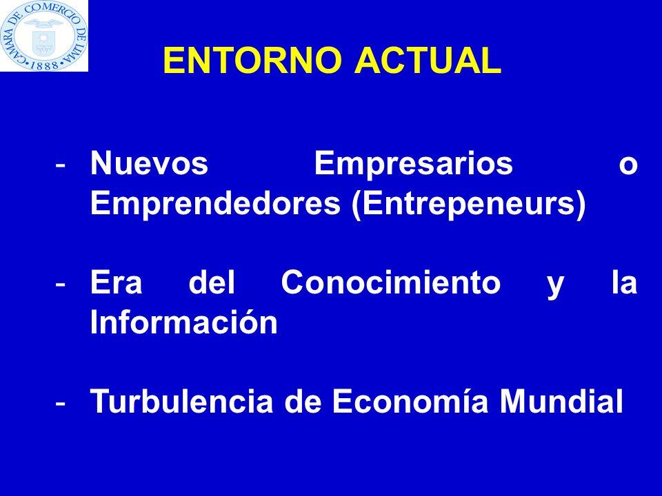 Nuevos Empresarios o Emprendedores (Entrepeneurs)