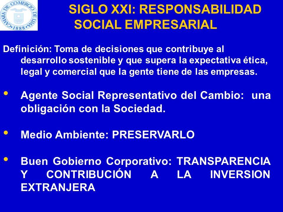 SIGLO XXI: RESPONSABILIDAD SOCIAL EMPRESARIAL