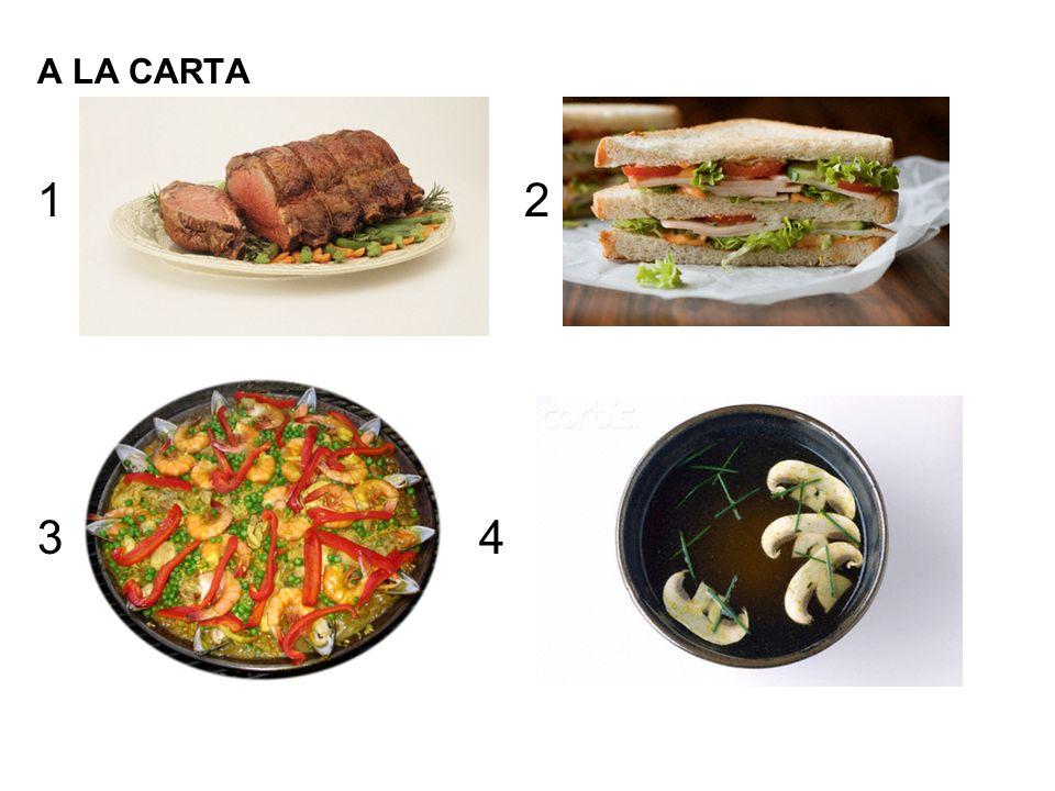 A LA CARTA 2 3 4