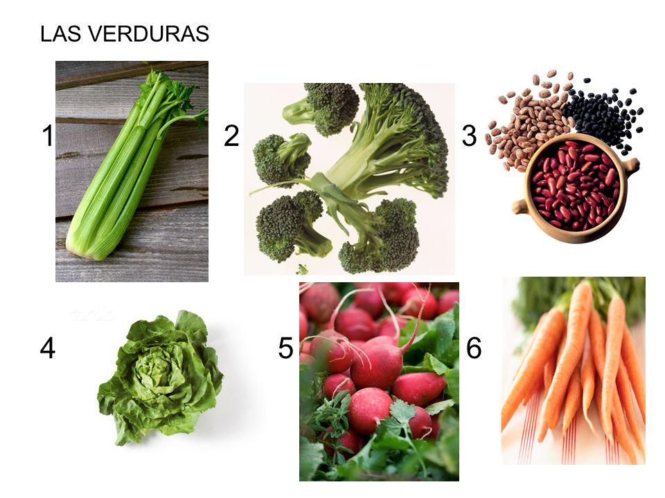 LAS VERDURAS 2 3 4 5 6