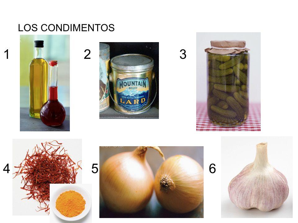 LOS CONDIMENTOS 1 2 3.