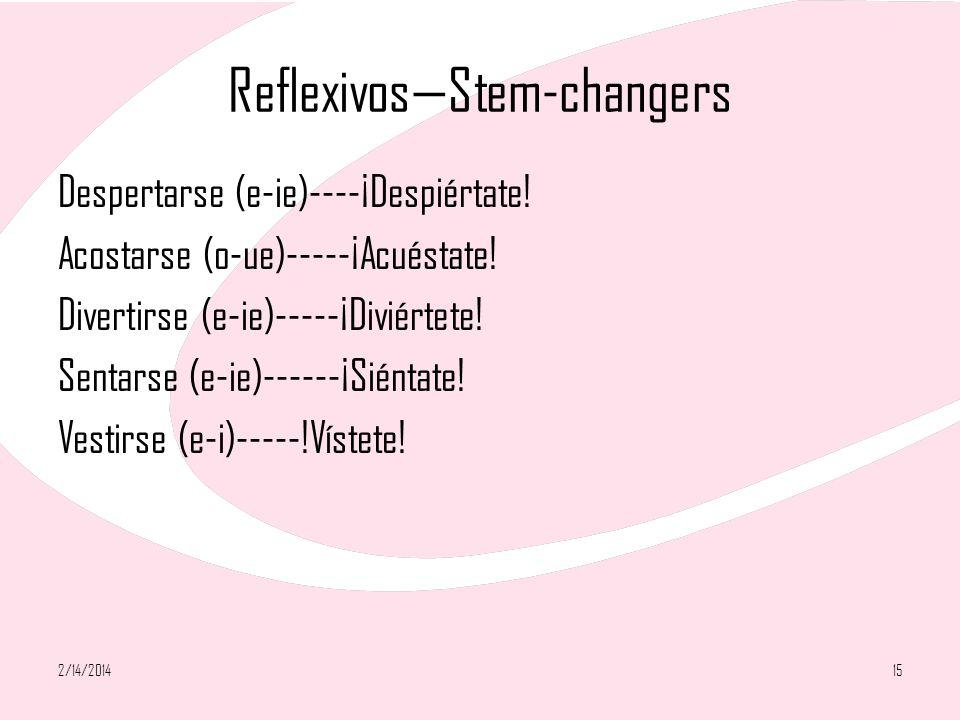 Reflexivos—Stem-changers