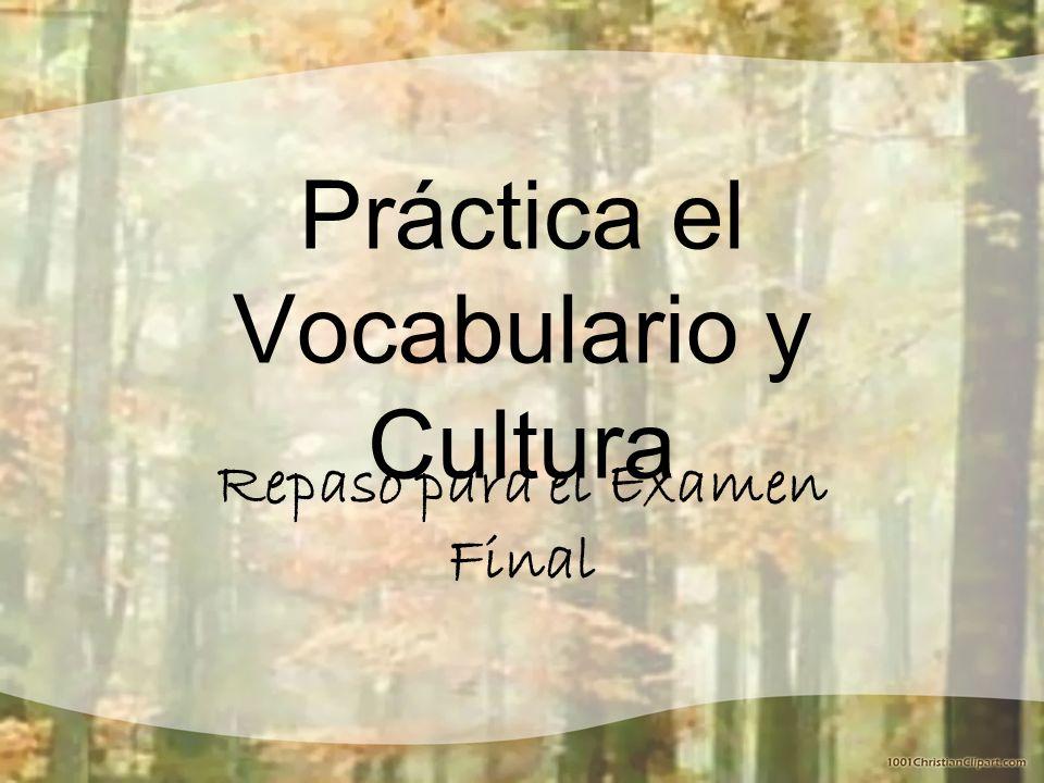 Práctica el Vocabulario y Cultura