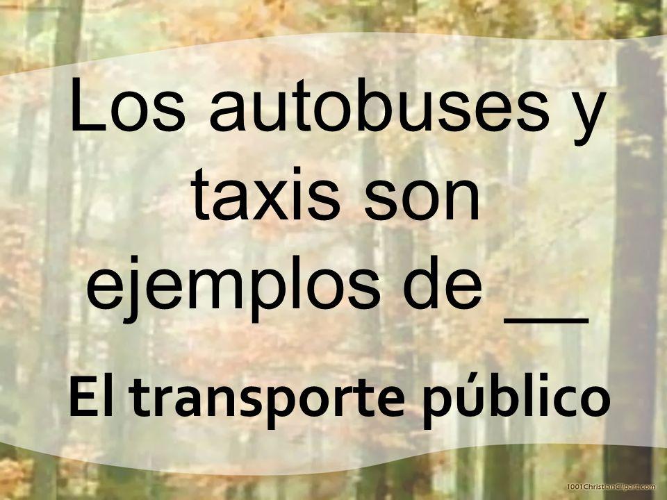 Los autobuses y taxis son ejemplos de __