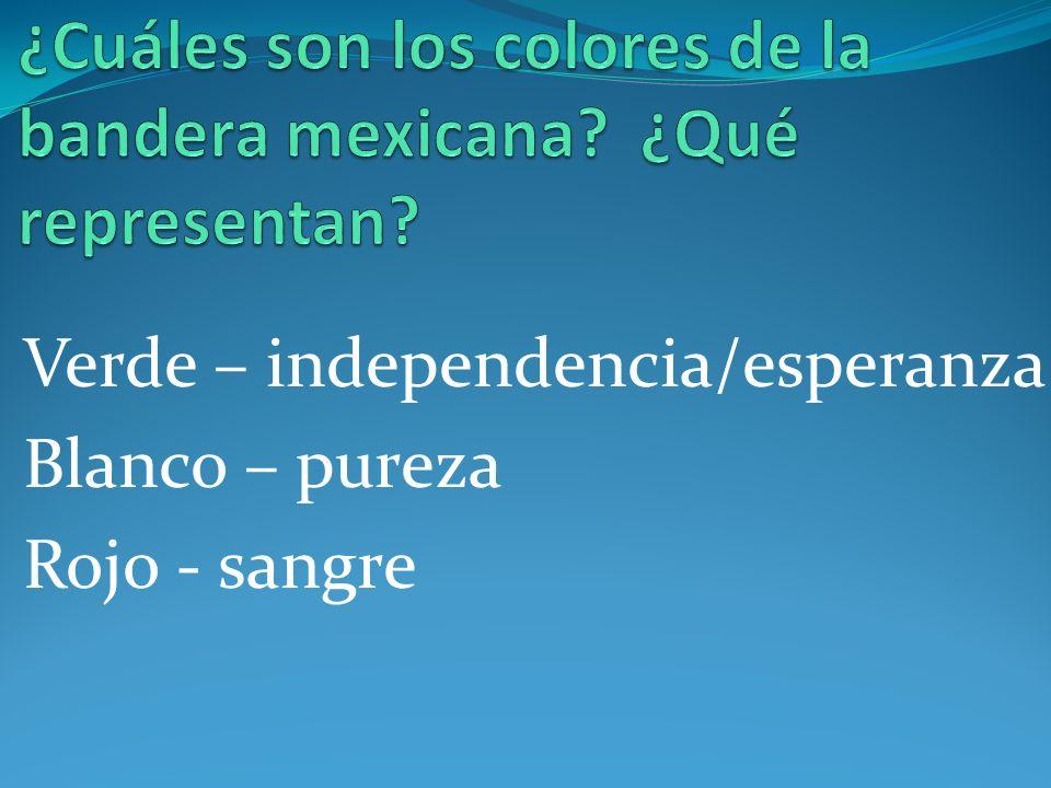 ¿Cuáles son los colores de la bandera mexicana ¿Qué representan