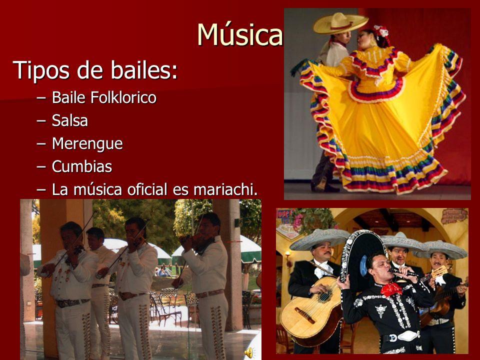 Música Tipos de bailes: Baile Folklorico Salsa Merengue Cumbias