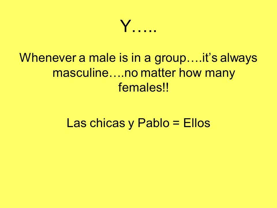 Las chicas y Pablo = Ellos