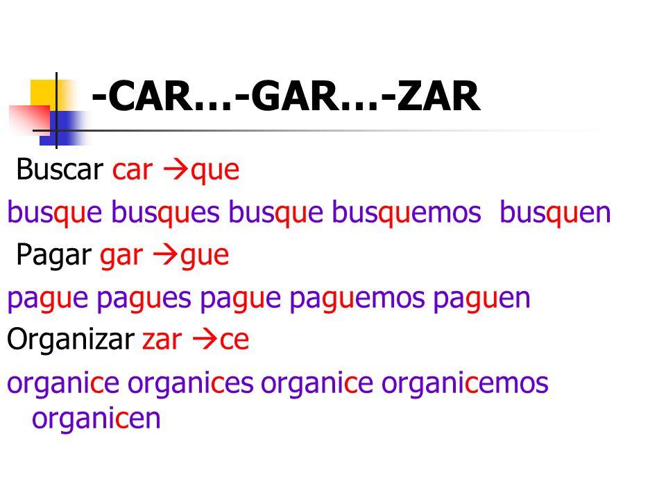-CAR…-GAR…-ZAR