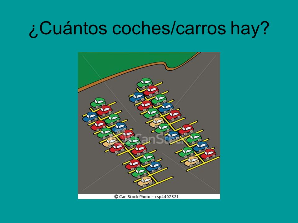 ¿Cuántos coches/carros hay