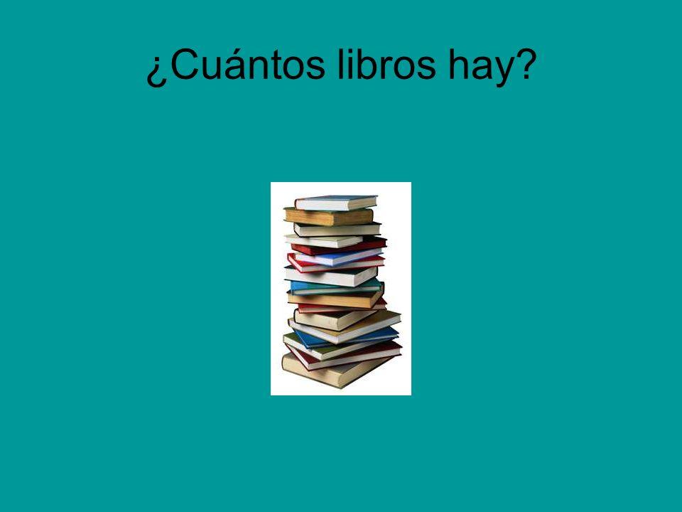 ¿Cuántos libros hay