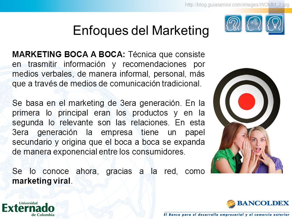Enfoques del Marketing