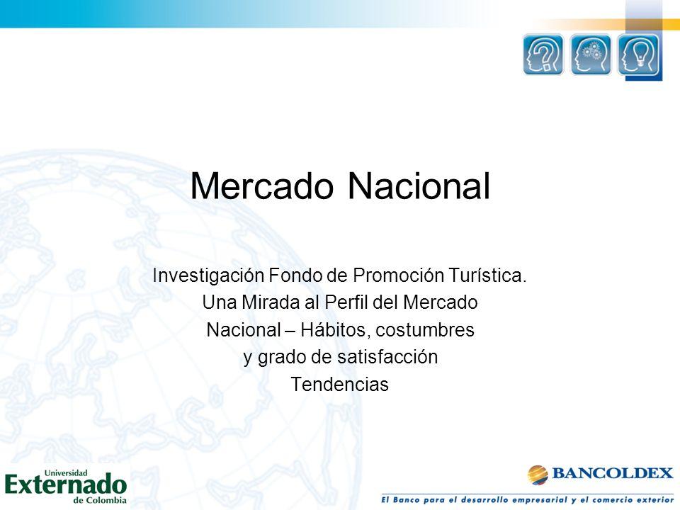 Mercado Nacional Investigación Fondo de Promoción Turística.