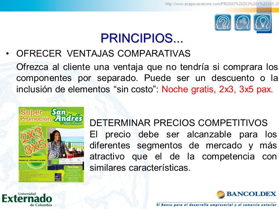 PRINCIPIOS... OFRECER VENTAJAS COMPARATIVAS