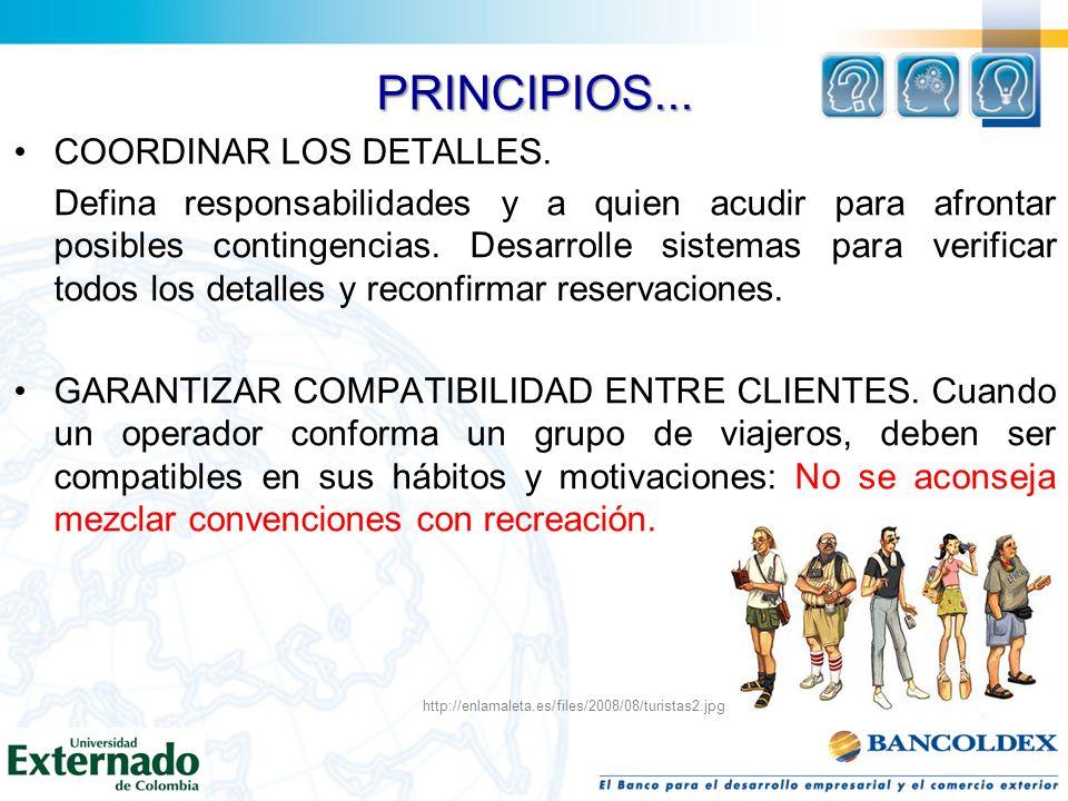 PRINCIPIOS... COORDINAR LOS DETALLES.
